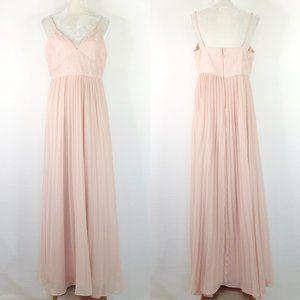 Lulus Maxi Dress XL Pink Bridesmaid Sleeveless